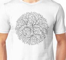 Hand-Drawn Floral Circle Unisex T-Shirt