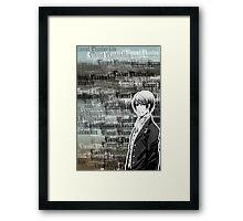 Vincent Phantomhive Lettering Framed Print