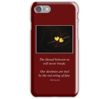Red String of Fate iPhone Case/Skin