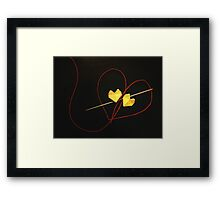 Red String of Fate Framed Print