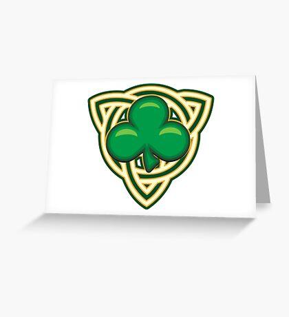 Saint Patricks Day Shamrock Emblem  Greeting Card