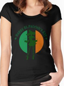Saint Patricks Day Party Design Women's Fitted Scoop T-Shirt