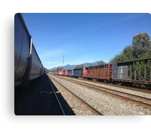 Seato sky Rail Yard- Sunny Canvas Print
