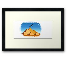 Pyramid  Egypt travel template Framed Print