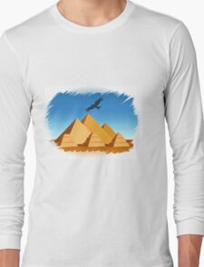 Pyramid  Egypt travel template Long Sleeve T-Shirt