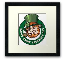 Saintt Patricks Day Badge Framed Print