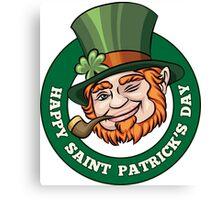 Saintt Patricks Day Badge Canvas Print