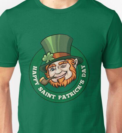 Saintt Patricks Day Badge Unisex T-Shirt