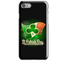 Saint Patricks Day Greeting Theme iPhone Case/Skin