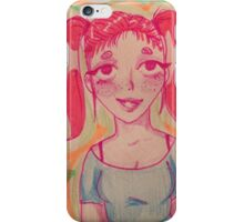 Pink pigtails iPhone Case/Skin