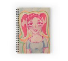 Pink pigtails Spiral Notebook