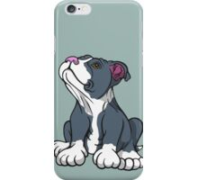 Bull Terrier Puppy Teal Blue iPhone Case/Skin
