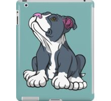 Bull Terrier Puppy Teal Blue iPad Case/Skin
