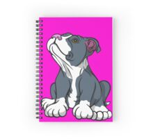 Bull Terrier Puppy Teal Blue Spiral Notebook