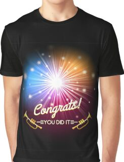 Congrats Fireworks Graphic T-Shirt