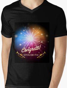 Congrats Fireworks Mens V-Neck T-Shirt