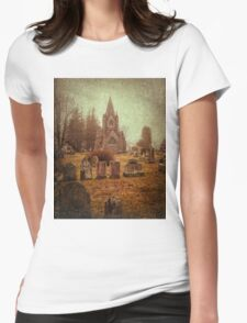 At Evergreen Cemetery Womens Fitted T-Shirt