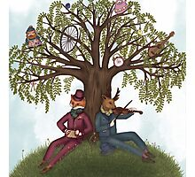 Musical Friends - A Hilltop Gathering Photographic Print