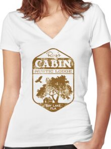 Roy's Cabin #2 Women's Fitted V-Neck T-Shirt