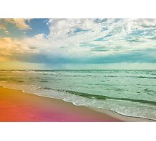 Beach in Colours Photographic Print