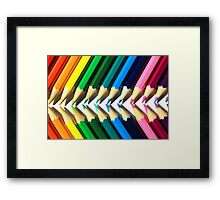 Colored Pencil Angles Framed Print