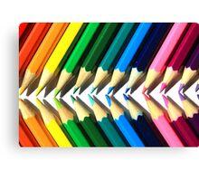 Colored Pencil Angles Canvas Print