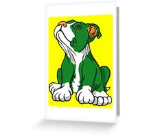 Irish American Bull Terrier Pup Greeting Card