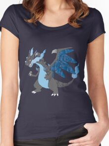 Pokemon  Charizard Mega evolution X Women's Fitted Scoop T-Shirt