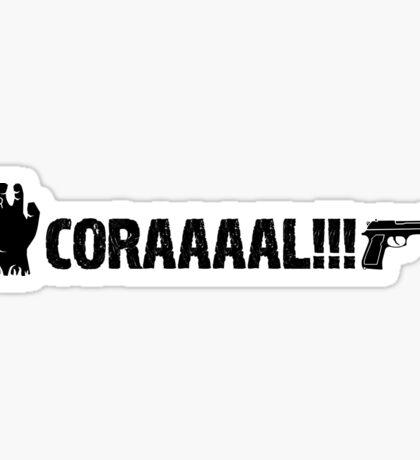 The Walking Dead - CORAAAAL!!! Sticker