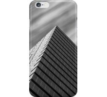 Modern architecture and windswept clouds iPhone Case/Skin