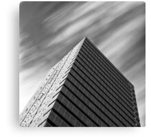 Modern architecture and windswept clouds Canvas Print