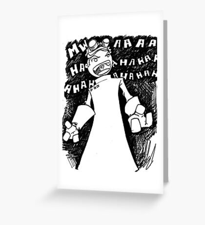 Doctor Horrible - Non Transparent Evil Laugh Greeting Card