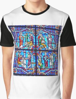 Stained Glass in Riverside Church, New York Graphic T-Shirt