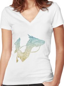 Spirited Away - Always with me Women's Fitted V-Neck T-Shirt
