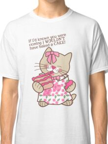 Baked a Cake, Cat Classic T-Shirt