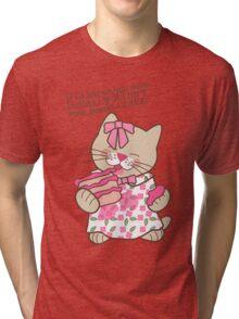 Baked a Cake, Cat Tri-blend T-Shirt