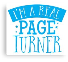 I'm a real page turner Canvas Print