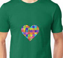 Autism heart jigsaw puzzle design Unisex T-Shirt