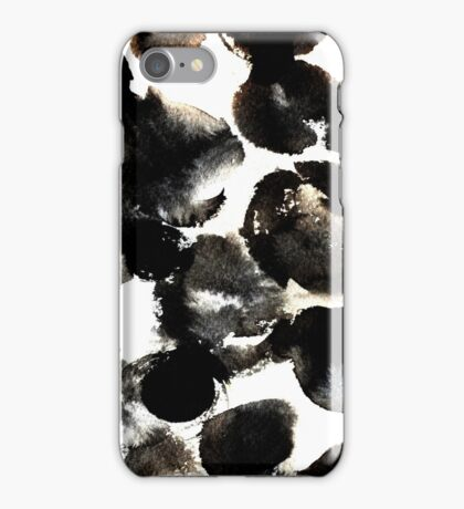 Black ink circles iPhone Case/Skin