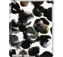 Black ink circles iPad Case/Skin