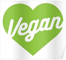 Vegan Heart Poster