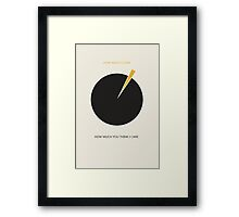 Indifferent Pie Chart Framed Print