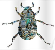 Trash Beetle (White) Poster