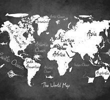 World map black by JBJart