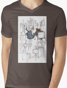 alice and the rabbit hole Mens V-Neck T-Shirt