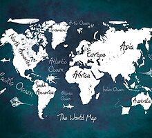 Oceans Life World Map by JBJart