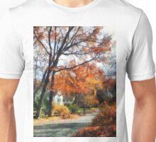 Suburban Street in Autumn Unisex T-Shirt