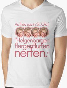 Widsom From a Rose Mens V-Neck T-Shirt