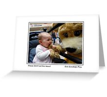Please don't eat the bears! Greeting Card