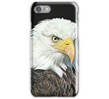Graphic bald eagle. iPhone Case/Skin